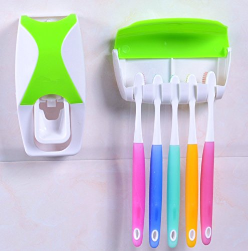 Automatic toothpaste dispenser with toothbrush holder set dust proof toothpaste dispenser - Keep toothpaste kitchen ...