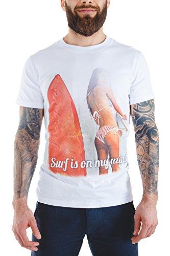 (MAYKA Best Vintage Summer T Shirts For Men Crew Neck, White, Medium)