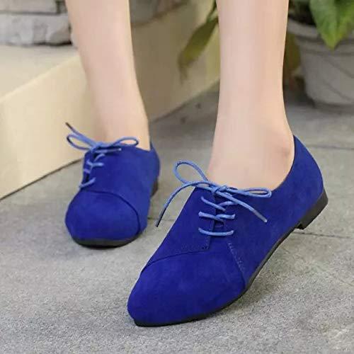 Bleu Zhrui coloré Eu Chaussures Marron Taille 36 TOpBYFqO