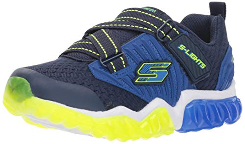 Skechers Kids Boys' Rapid Flash- Uproar Sneaker, Navy/Lime, 12 Medium US Little Kid