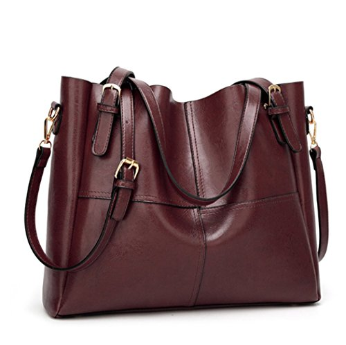 Lady ANUAN Bag Shoulder Leather Bag Oil Darkbrown ANUAN Oil Wax 0xCRHF