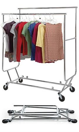 Garment Rack Double, Portable, Foldable, Adjustable, Commercial Or  Residential All Steel Portable