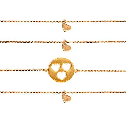 Beka & Bell Carry Mère & fille bracelet Lot de 3pour 3filles plaqué or