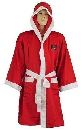 Playwell - Bata de boxeo (seda), color rojo: Amazon.es: Deportes y aire libre