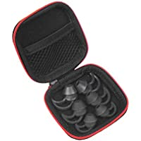 New Replacement Noise Isolation Earbuds 3 Pairs (S, M, L) with Extra Layer Comfort Eartips for Bose QC20 QC20i SoundSport SIE2 SIE2i IE2 IE3 In Ear Earphones (Black+Case)
