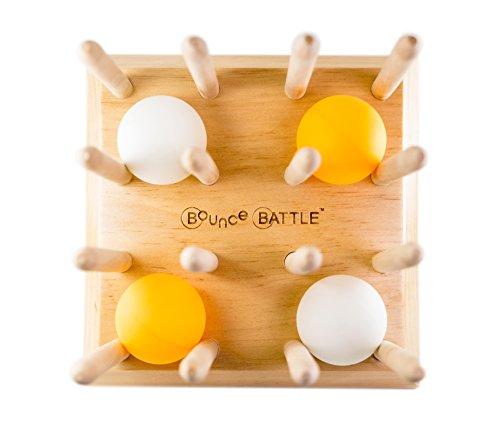 Bounce Battle Wood Edition Game Set – an Addictive Game of Strategy, Skill & Chance