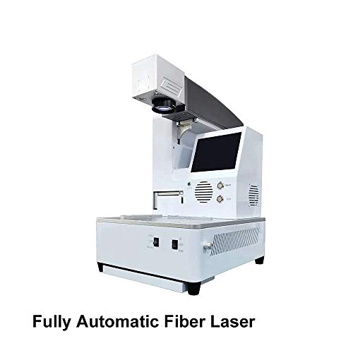 Automatic Fiber Laser Marking Machine Engraver Cutter With Built-in Computer For iPhone 8 8P XS XR XSMax Rear Glass Separation