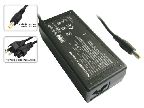 AC Adapter Power Supply Charger+Cord for Acer Aspire 1412LCi 3610WLCi Extensa 4420 4630z 5420 5620 5620-1A1G12 5620Z 5620Z-1A2G16Mi 5630z by SIB