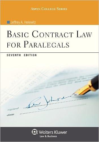 Basic contract law for paralegals seventh edition aspen college basic contract law for paralegals seventh edition aspen college jeffrey a helewitz 9781454816454 amazon books colourmoves