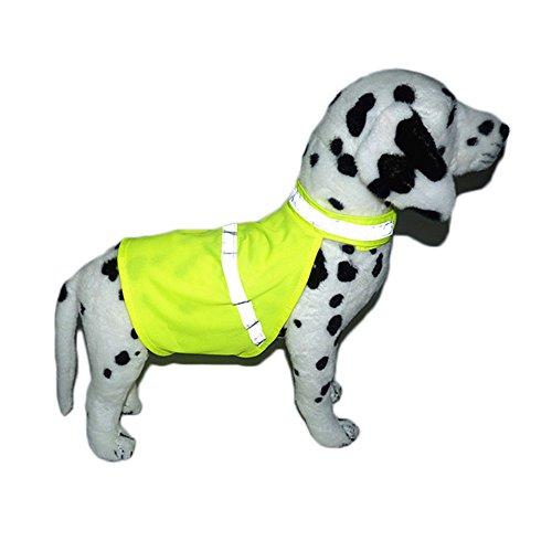 SUPEREX® Hundemantel Regenmantel Hunderegenmantel Reflektor Warnweste wasserdicht Hundebekleidung Hundejacke Regenjacke (Bitte messen Sie die Länge von Rücken und Brust vom Ihren Hund vor Einkaufen)