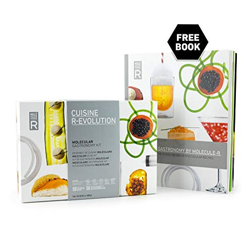 Molecule-R - Molecular Gastronomy Starter Kit + FREE 40 recipe book - CUISINE R-EVOLUTION (Best Molecular Gastronomy Kit)