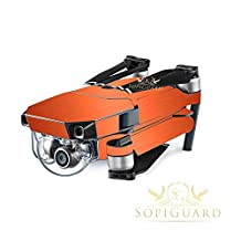 SopiGuard Brushed Orange Copper Precision Edge-to-Edge Coverage Vinyl Skin Controller Battery Wrap for DJI Mavic Pro