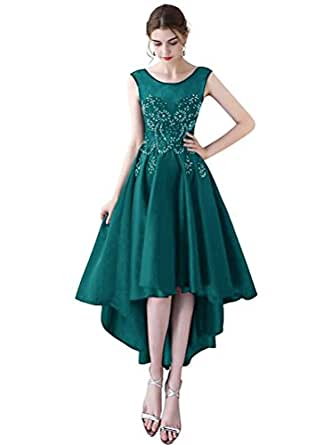 SWKDZ Women's Cap Sleeves Long Chiffon Lace Evening Gown Prom Dresses