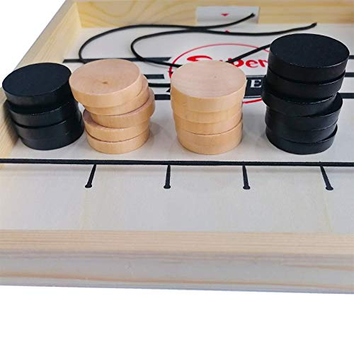Puck Game,Sling Puck Game Large,Fast Sling Puck Game, Family Board Game, Foosball Winner Board Game Party Birthday Gift Memorial Day Gift with 20 Pucks
