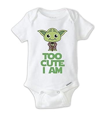 Juju Apparel Star Wars Cute Yoda Baby Onesie,Yoda Onesie (3-6 Months)