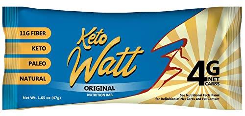 KetoWatt Keto Bars - Ketogenic, Low Carb, Keto-Friendly, Low Glycemic, Paleo, All Natural, Gluten Free, GMO Free snacks to reach ketosis, 12 pack (Original)