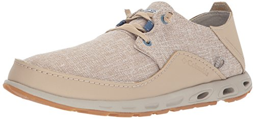 Columbia PFG Men's Bahama Vent LOCO Relaxed II PFG Boat Shoe, Ancient Fossil, Steel, 12 Regular US