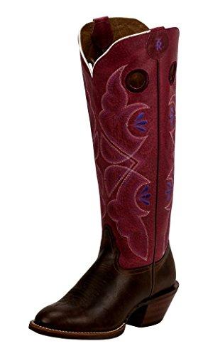 Tony Lama Fashion Boots - Tony Lama Women's 3R Buckaroo Tan/Cerise 8 B