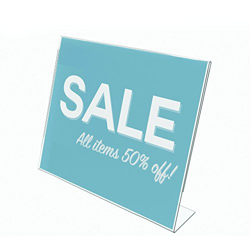 Deflecto Classic Image Slanted Sign Holder, Tabletop and Desk, Single-Sided, Horizontal, 11