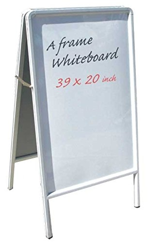 A-frame Markerboard (Signworld Double Side A Frame Sidewalk White Markerboard Sign)