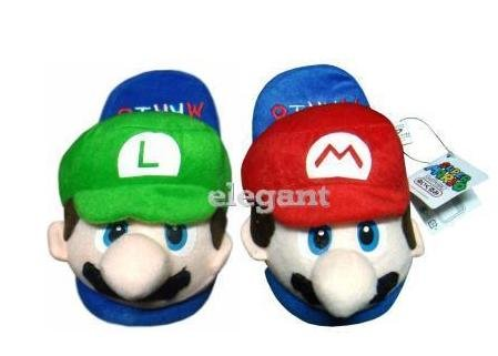 Super Mario (Mario & Luigi) Kids Slipper Set One Size Fits All up to 9