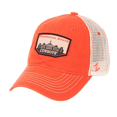 ZHATS NCAA Oklahoma State Cowboys Men's Trademark Relaxed Cap, Adjustable, Washed - Cowboys State College Baseball Oklahoma