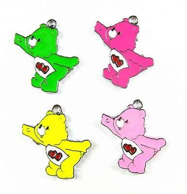 FidgetGear 20 Multicolor red Heart Care Bear Metal Charms Pendants Jewellery Making Crafts