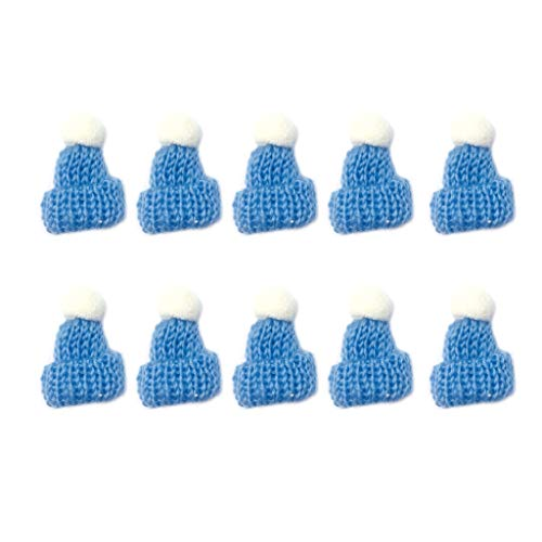 X-SPORT Mini Knit Hat Ornaments Pendant Cute Doll Hat Bag Pendant Ornament Accessories 10PCS