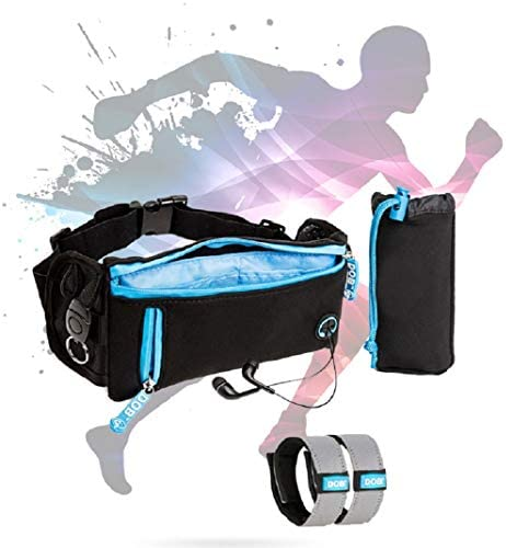 Slim Fanny Pack Running Belt, Water Resistant, Extremely Light, Workout Pouch Used for Hiking, Running, Walking and Working Out Comfortable Waist Pouch
