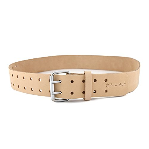 Style n Craft 94-052 2-Inch Wide Work Belt in Heavy Top Grain Leather by Style N Craft