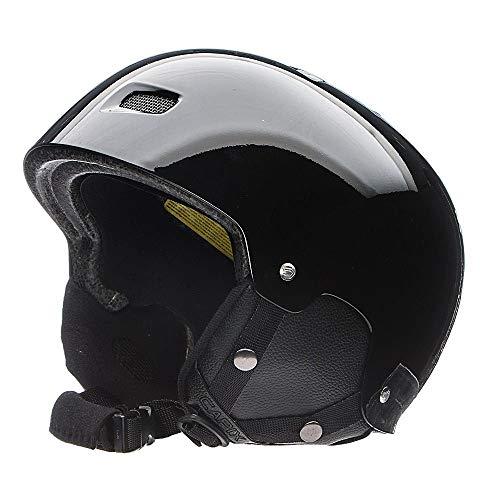 Capix Gambler Ski/Snowboard Injection Molded, Vented Snow Helmet, Gloss Finish (Black, Small-Medium)