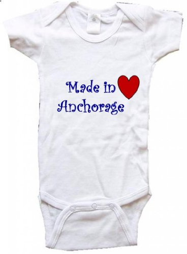 MADE IN ANCHORAGE - ANCHORAGE BABY - City Series - White Baby One Piece Bodysuit - size Small - Anchorage In Women