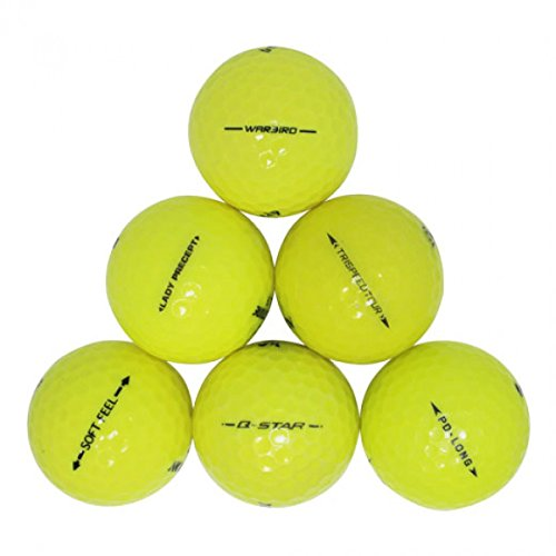 Yellow Proline Mix Mint Recycled Golf Balls (24 Pack) (Best Golf Ball For Average Swing Speed)