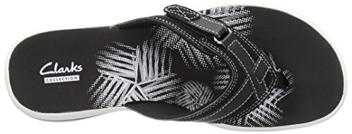 Clarks Mujeres Breeze Sea Flip-flop New Black Synthetic
