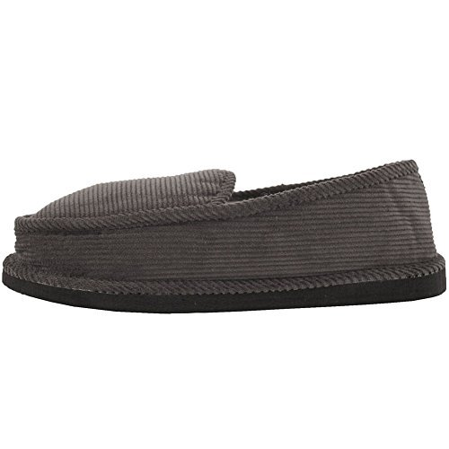 Bright Men's Corduroy Gray House Slippers 12 D(M) US