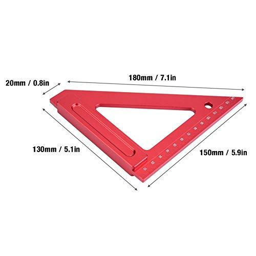三角定規、定規三角定規、測定ツール、アルミ合金、木工、150mm