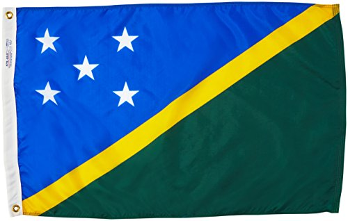 - Annin Flagmakers Model 197420 Solomon Islands Flag Nylon SolarGuard NYL-Glo, 2x3 ft, 100% Made in USA to Official United Nations Design Specifications
