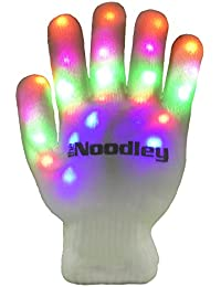 Flashing LED Light Gloves - Kids Size and Adult Size - Extra Batteries