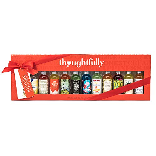 Thoughtfully Gifts, Global Cocktail Mixers Gift Set, Pack of 12 Individual Drink Mixers for Appletinis, Margaritas, Mai Tais, Mojitos, Moscow Mules, and More! (Gift Cocktail Set)