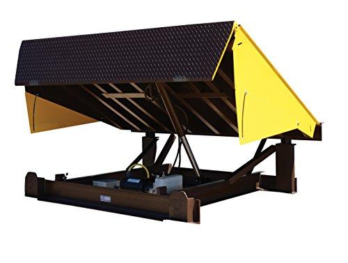 Vestil-EH-710-25-Dock-Leveler-Electric-Hydraulic-25000-lb-Capacity-7-x-10-Silver