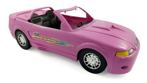 Ford Mustang Glam Pink Convertible Car for Dolls (Great for Barbie)