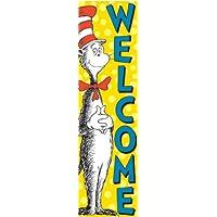 Eureka Dr. Seuss Bienvenido de regreso a la escuela Decoración de puertas Suministro de aula, 12 '' x 45 ''
