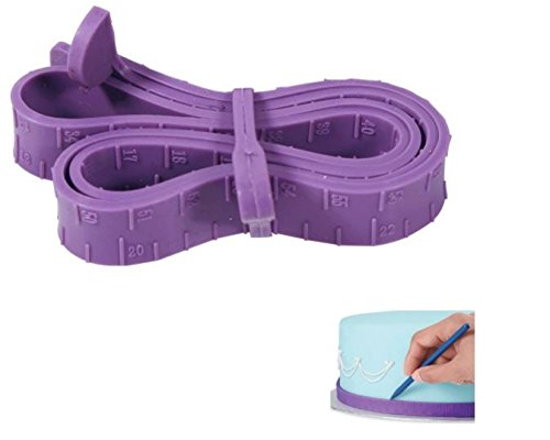 - KC-SN03 66cm Food Grade Soft Silicone Fondant Cake Measuring Tape Mousse Ruler Baking Tools by advanced