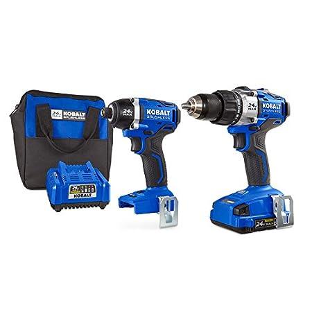 Kobalt Tools Review >> Kobalt 24v Max Brushless 2 Tool Combo Kit 0672827