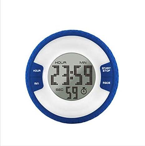 PANGUN Cuarto De Baño Impermeable Moda Neumático Forma Electrónica Reloj Digital Temporizador con Nevera Imán-Azul: Amazon.es: Hogar