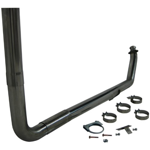 MBRP S8112409 SMOKERS T409 Stainless Steel Turbo Back Single Side Exhaust System ()