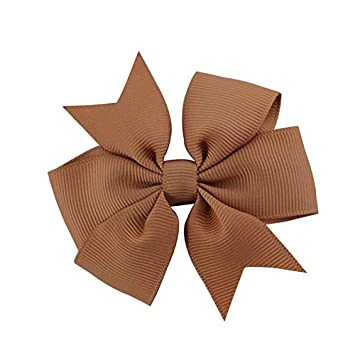 New Baby Girls Big Grosgrain Ribbon Boutique Hairpin Bows Hair Accessories Hot