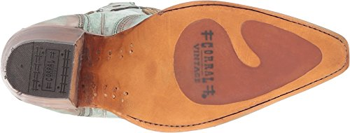 Turquoise Tan Boot Cord Snip Stitch Cowgirl Women's Toe CORRAL Sgq6w4w