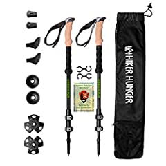 Hiker Hunger Trekking Poles are the Strongest, Lightest, & Most Portable poles available! These compact poles are perfect to take on backpacking routes, mid-winter expeditions and far-flung adventures with ease. What's Included?! ♦ 2 Hike...
