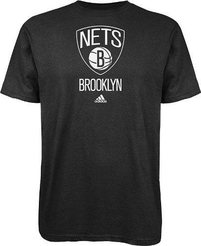 NBA Brooklyn Nets Primary Logo T-Shirt, Large, Black